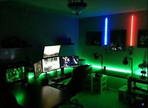 DESK LED Light KIT --- all colors including XBox One Green with Strobe Effects A