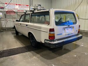 1981 Volvo 240 dl wagon with 1989 740 2.3 turbo parts car