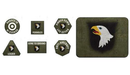 US909-101ST AIRBORNE DIVISION TOKENS /& OBJECTIVES FLAMES OF WAR
