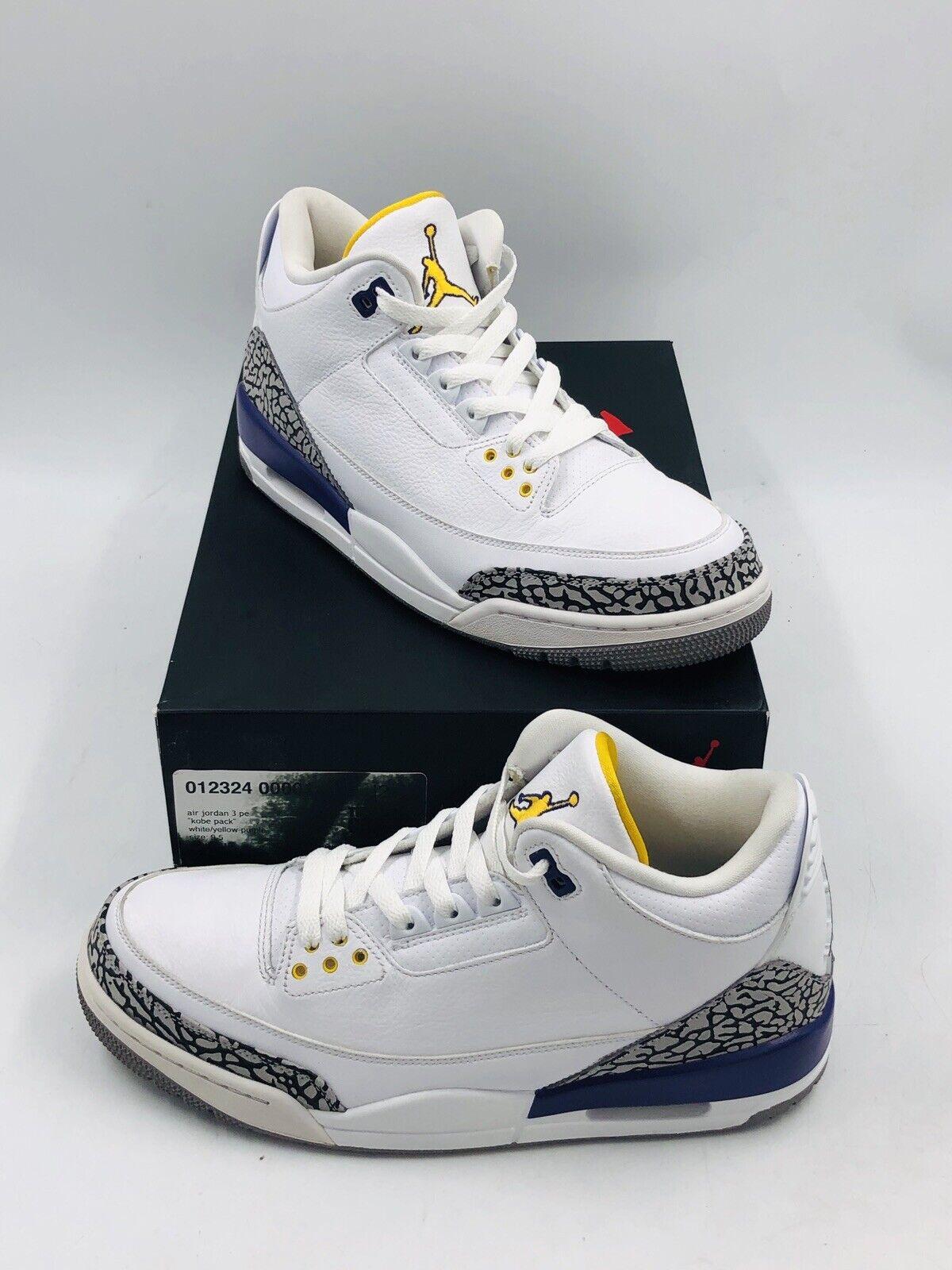 Air Jordan Retro 3 'Kobe Bryant' PE Very Rare Size 9.5 (136064-107) W  Box