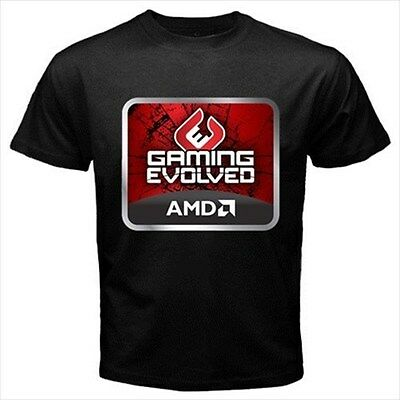 AMD Gaming Evolved Black T-Shirt Size S to 3XL Brand New