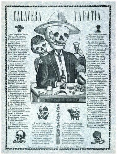 1067 Fine Graphic Art Design Mexican Design Calavera Tapatia Decor Poster