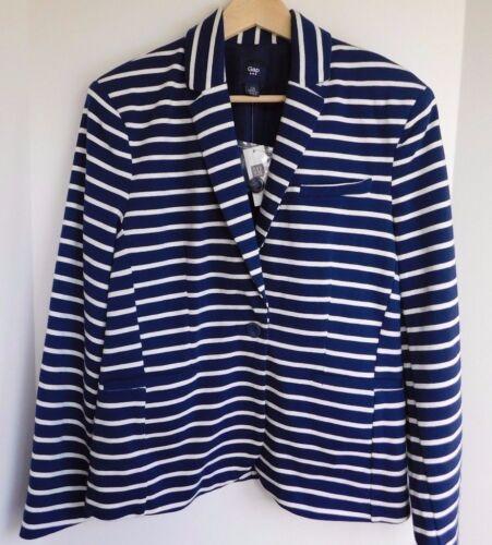 NWT Gap Women/'s Blazer Jersey Knit Navy//White Striped 2 4 10 12 MSRP$65 New