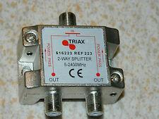 5-2400 MHz 2 WAY SPLITTER 223 triax 616223 tv SAT ANTENNE television antenna