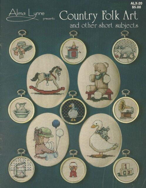 Alma Lynne Designs Country Folk Art  Counted Cross Stitch Patterns