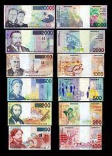 Belgio 6 banconote 2°Serie  (Riproduzione/copy)