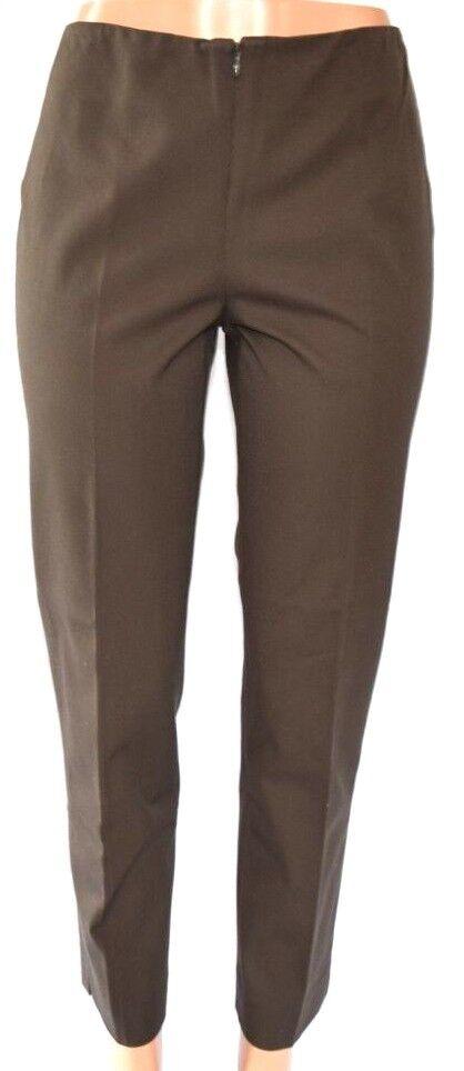 PEACE OF CLOTH BROWN MOSS FRONT ZIPPER COTTON SPANDEX TECNO PANTS SIZE 6 PC027