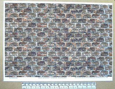 "1:24 Scale Methodical G Gauge ""block Sandstone "" Self Adhesive Vinyl Reliable Performance"