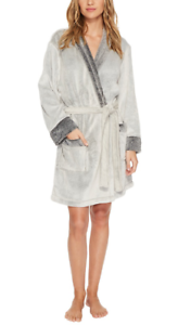 Sheared Fleece S Womens 3981 Sz Robe Frosted Dkny Grey qwFItUU