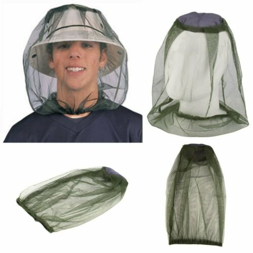 2X Pack Mosquito Resistance Bug Insect Bee Net Mesh Head Face Protector Survival