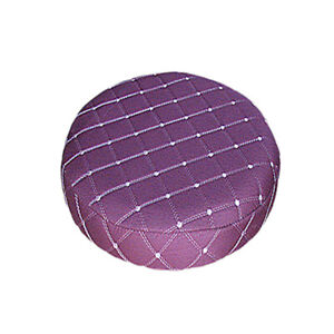 Astounding Details About 11 Inch Grid Bar Stool Slipcover Round Chair Seat Cover Protector Purple Bralicious Painted Fabric Chair Ideas Braliciousco
