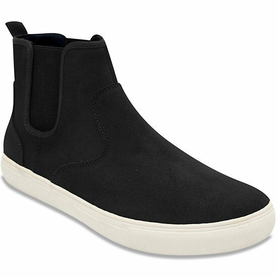 New NAUTICA Mens Cutwater Slip on High Top Sneaker Shoes Size 9.5 (M Black Suede
