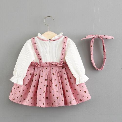 Newborn Baby Girls Clothes Dress+Headband Kid Girl Clothing Skirt Infant Dresses