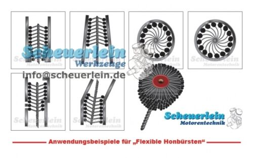 60//120//180//240//320//600 36-38 mm Körnung Flexible Honbürste NW 38 mm
