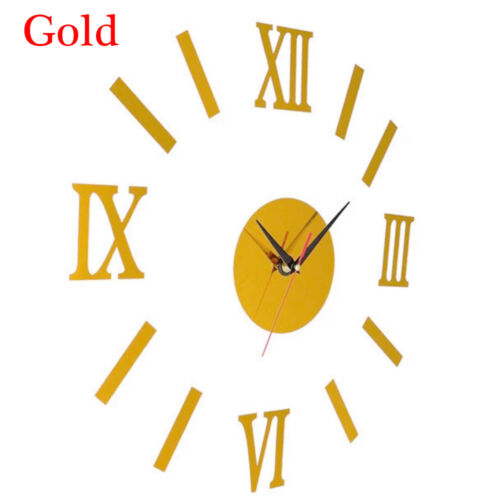 Wandbild Aufkleber Spiegel-Wand-Aufkleber Römische Zahlen Uhr Acryl