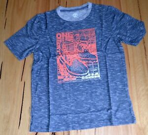 SIZE-4,6,8,10,12 /&14 YEARS Timberland Boys Printed T Shirt NEW BLUE /& WHITE