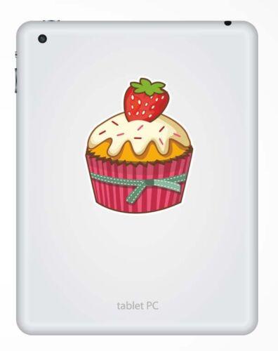 2 x 10 cm Autocollant Vinyle Cupcake Sticker Voiture boutique cup cake rose boulangerie alimentaire # 9264