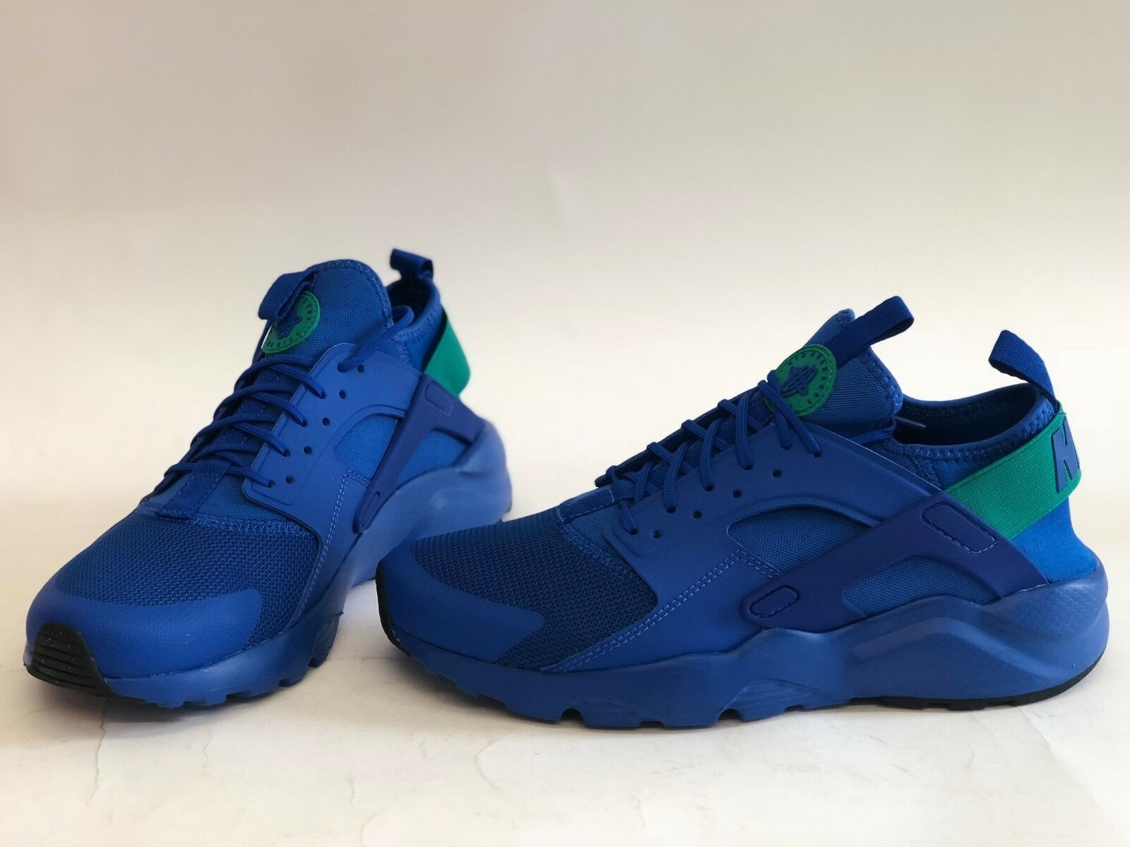 NIB MENS SIZE 8.5 NIKE AIR HUARACHE RUNNING ULTRA SNEAKERS ROYAL BLUE 819685-413