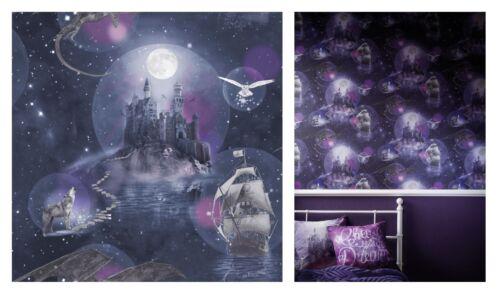 696101 SAMPLE ONLY Arthouse Magic Kingdom Purple Wizard Harry Potter Wallpaper