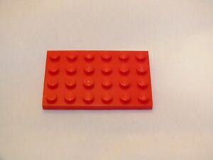 LEGO-4X6-RED-PLATE-BRICK-BRAND-NEW-NEVER-USED-40-PIECES