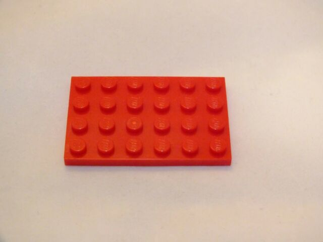 LEGO 4X6 RED PLATE BRICK BRAND NEW NEVER USED 40 PIECES