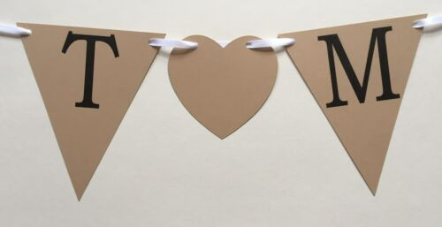 Personalised Bunting Banner Flags Party Age Birthday Wedding Garland Candy Bar