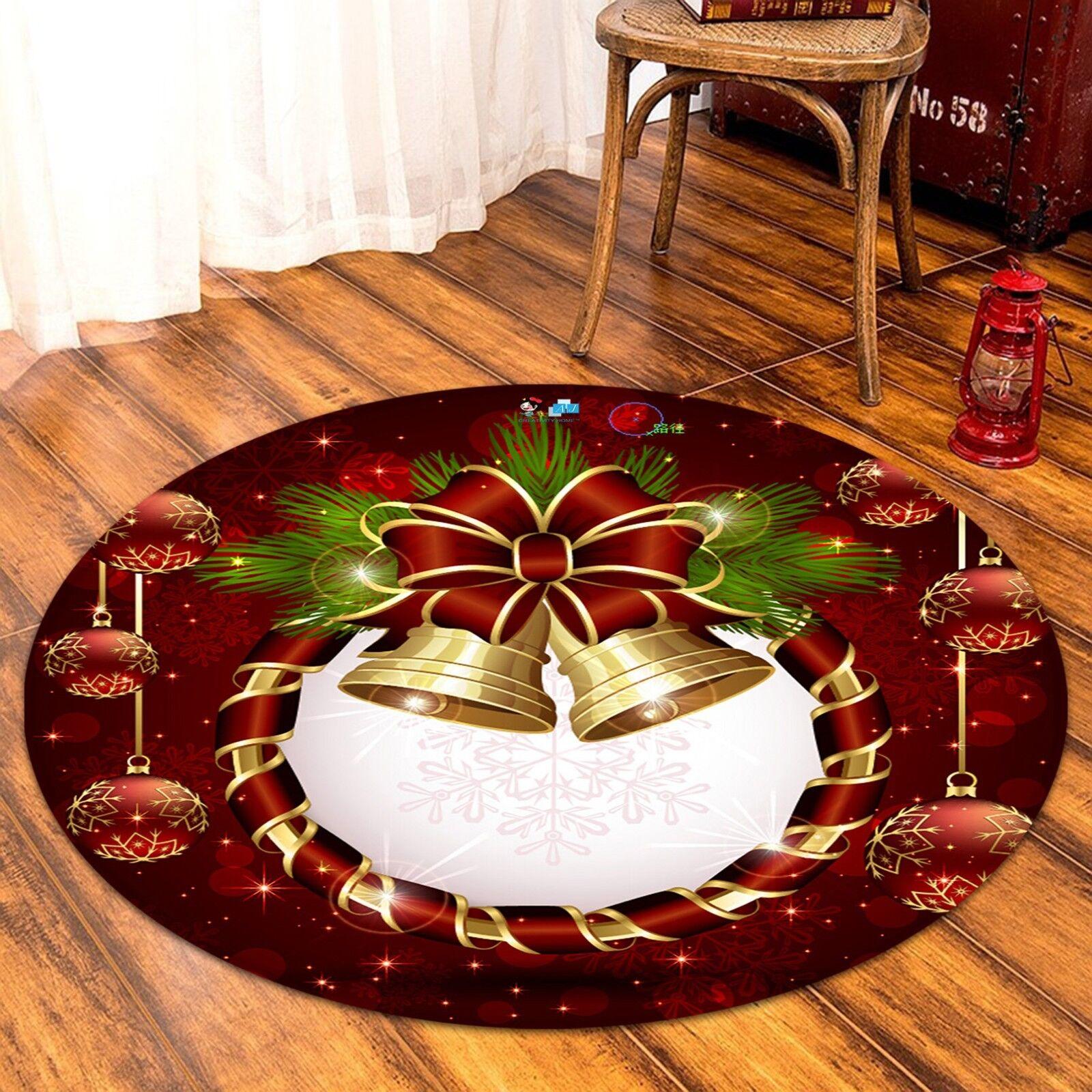 3D Christmas  Xmas 525 Non Slip Rug Mat Room Mat Round Elegant Photo Carpet AU
