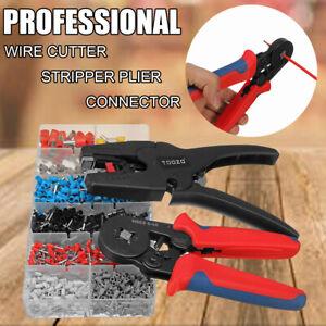 Professional Crimper Plier Wire Cutter Stripper Electrical Terminal Tool  ☆  *