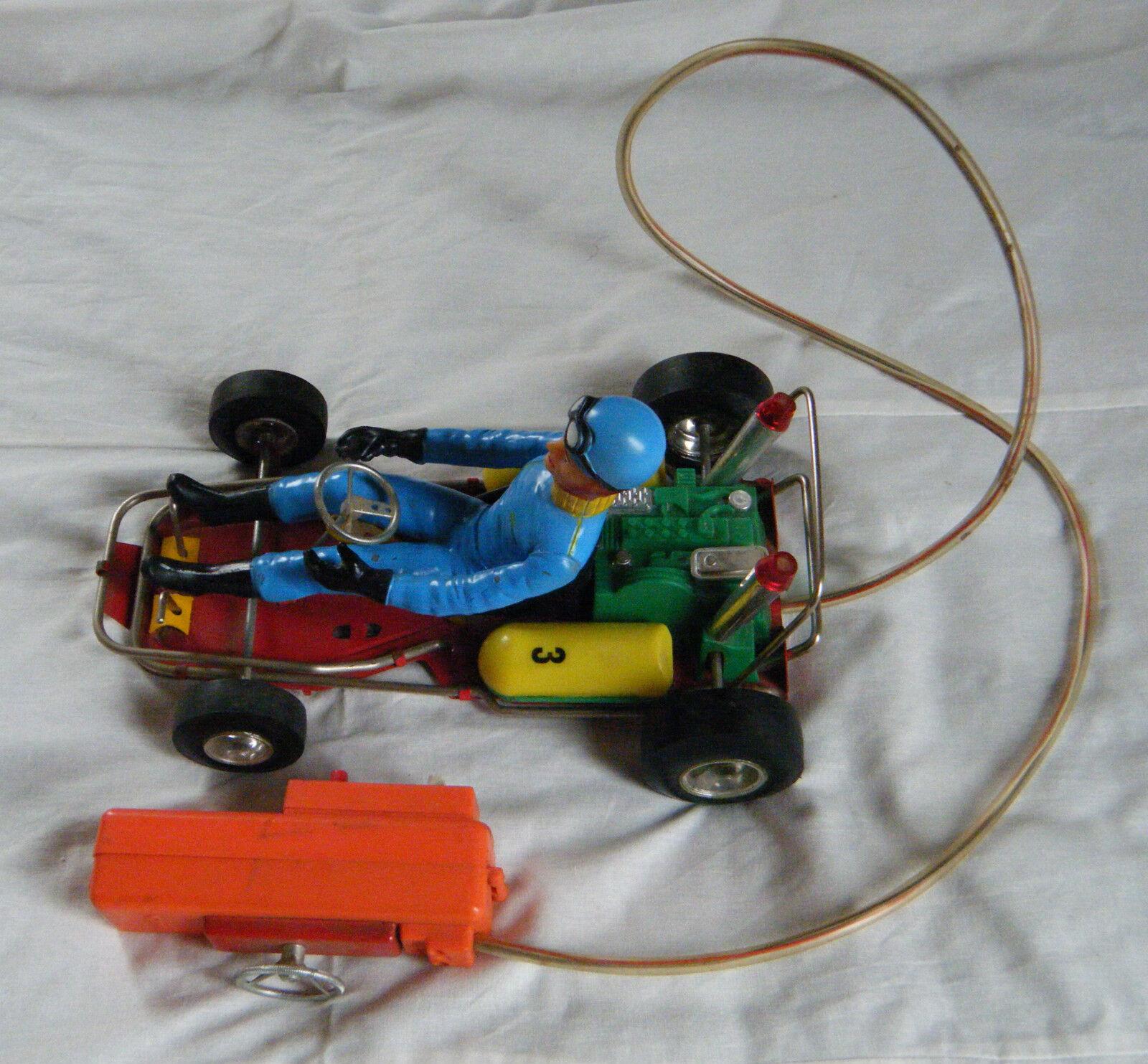 Jouet ancien karting télécommandé-CLIM- 2 piles- 60'