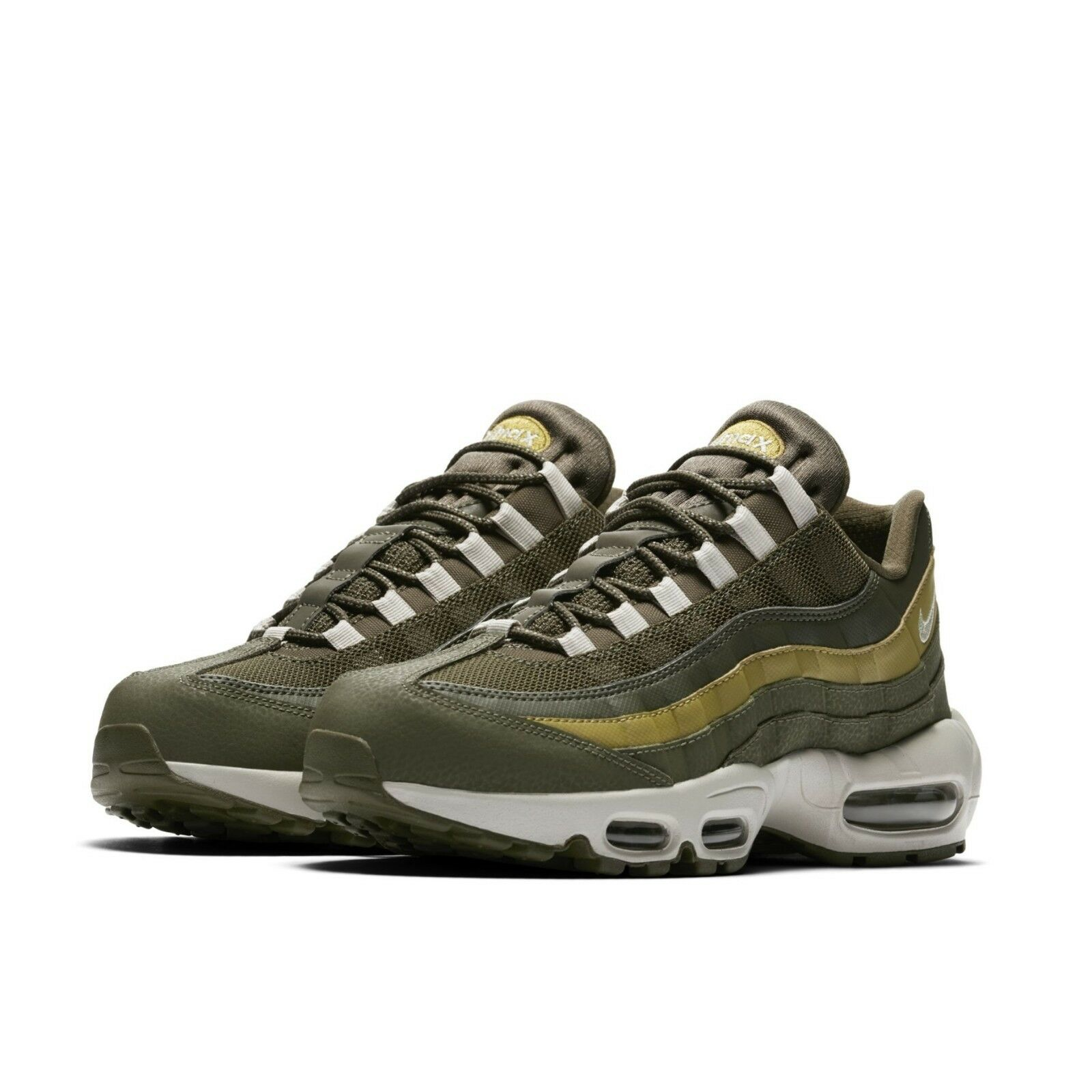 Nike Mens Air Max 95 Essential Olive Green Brown Running shoes 749766-303
