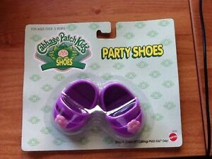 Kohl Patch Kinder CPK Puppe Party Schuhe - Lavendel mit Schleifen - BRANDNEU