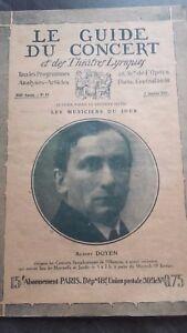Revista Le Guía de La Concierto Y Las Sketches Letra 1927 N º 14 A. Dean