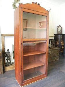ANTIQUE CHEMIST SHOP DISPLAY CABINET LIBRARY BOOKCASE COLLECTORS CABINET c1890