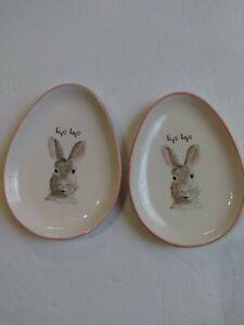 RAE-DUNN-Easter-Bunny-rabbit-dessert-plates-pink-hip-hop