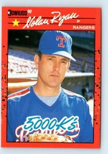 1990 Donruss Nolan Ryan 5000K Error on Back Texas Rangers #665