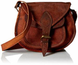 Women-039-s-Vintage-Brown-Leather-Messenger-Bag-Shoulder-Hippie-Handmade-Purse-Bag