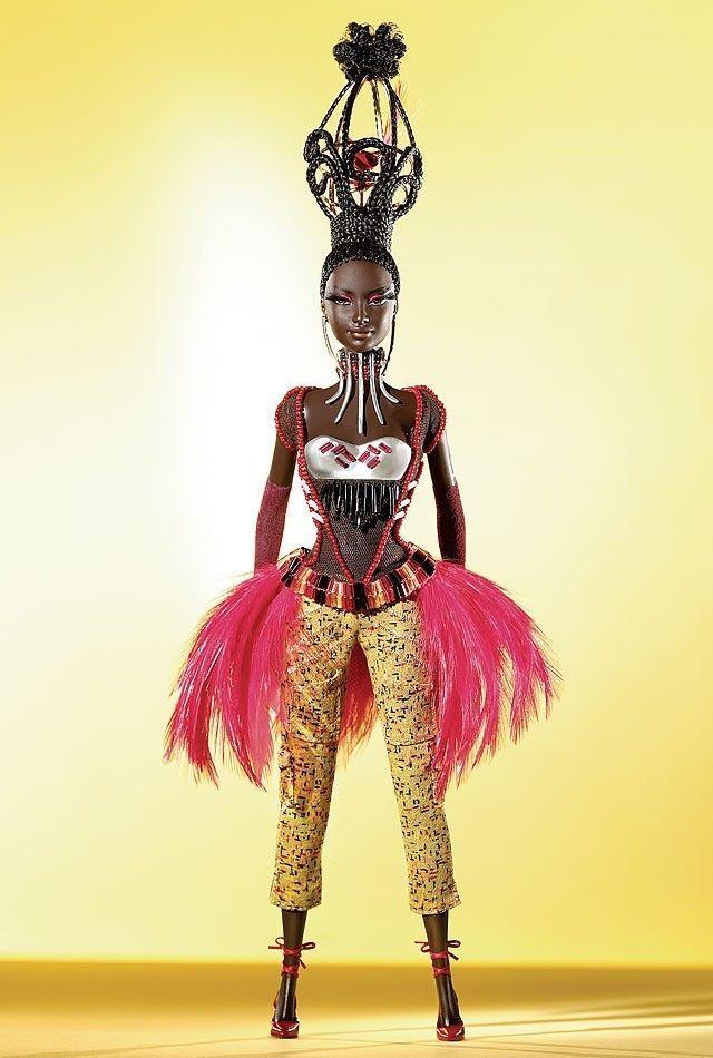 Byron Lars Tano -  Tesoros de África Collection  Desginer Barbie doll-g8050