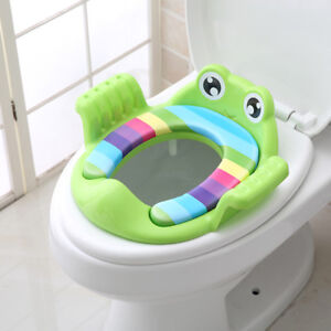 Baby-Handle-Toilet-Seat-Soft-Pad-Portable-Frog-Cushion-Trainer-Potty-Training