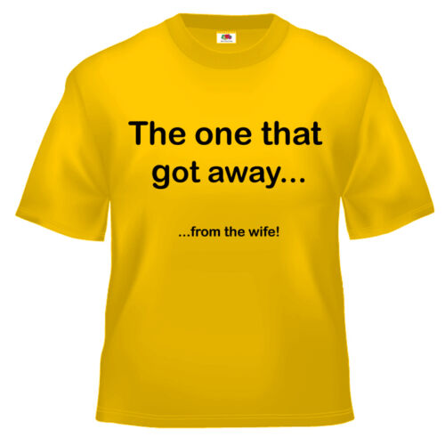 Funny Fishing the one that got away T Shirt 100/% cotton all sizes and colours