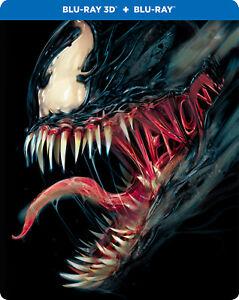 Venom-2018-STEELBOOK-Blu-ray-3D-Blu-ray-Region-Free-Three-Disc-NEW