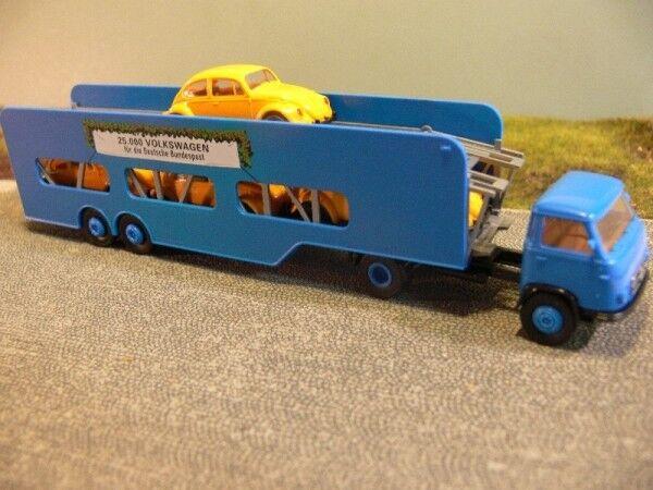 1 87 Brekina Borgward B 655 auto auto auto Transporter + 4 vw escarabajo amarillo 018092 949988