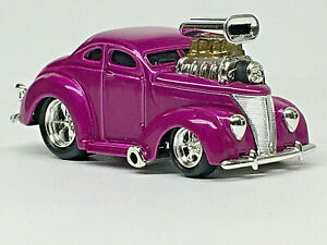 Muscle Machines 37 Ford Coupe Purple W Rrs Mint Loose 1 64 Ebay