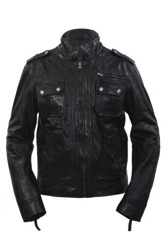 noir en noir Casual cuir nappa 100 mouton peau de w8wZq4B