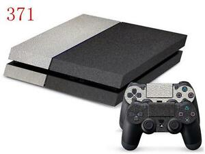 #371 2 Toned Grey Textured Sony Ps4 Console And Controller Skins Orders Are Welcome.