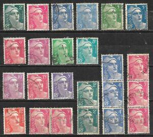 L021-Lot-24-Timbres-Marianne-de-GANDON-1945-1947-1948-1949-1951-1954