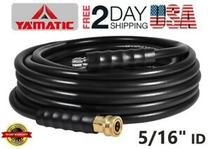 YAMATIC-5-16-034-High-Pressure-Washer-Hose-Extension-4200-PSI-40Ft-Non-marking