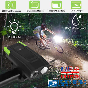 USB Rechargeable Bike Headlight LED Bicycle Front Head Light Cycling Riding