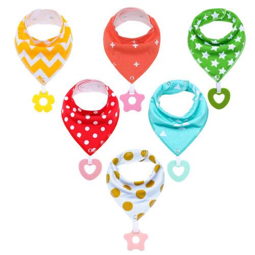 Baby Bandana Drool Bibs Teething /&Drooling for Boys Girls Soft Teething Toys Set