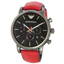 bca12ce6e8d item 4 BRAND NEW EMPORIO ARMANI CHRONOGRAPH BLACK DIAL RED LEATHER MEN  WATCH AR1971 -BRAND NEW EMPORIO ARMANI CHRONOGRAPH BLACK DIAL RED LEATHER  MEN WATCH ...