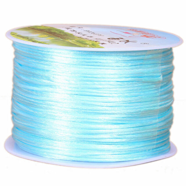 30 COLOR 1mm Nylon Satin Cord Chinese Knotting Shamballa Rattail Thread String